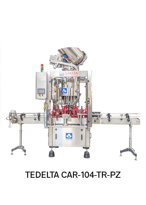 Maquina taponadora Rotativa Pick & Place CAR-104-TR-PZ