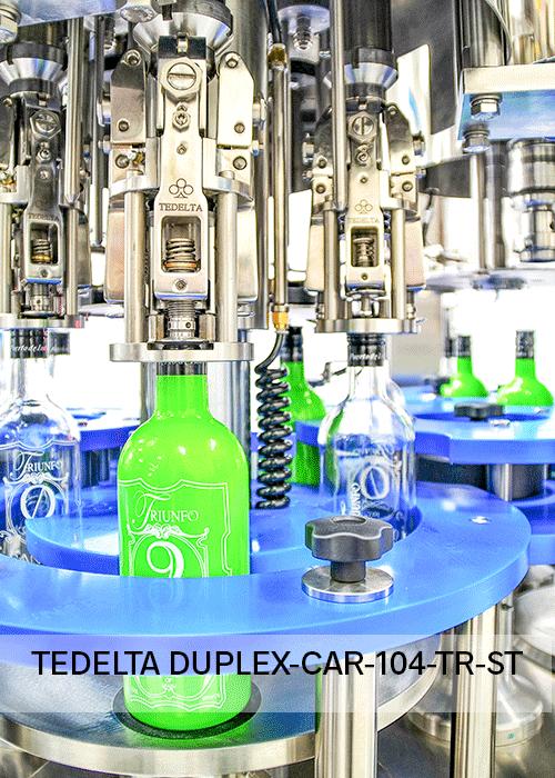 Maquina taponadora Rotativa Duplex Mono CAR 104 TR ST